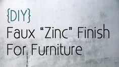 DIY - faux zinc finish for furniture (Restoration Hardware Style)