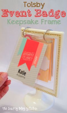 Keep all of your event badges in one place and on display!  Makes a fun keepsake frame