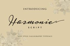 Harmonie Script (Intro 25% off) by ianmikraz on Creative Market