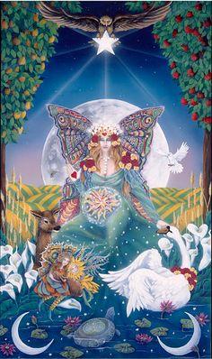 Orisha, Star Tarot, Tarot Major Arcana, Oracle Tarot, The Empress, Tarot Readers, Klimt, Tarot Decks, Archetypes