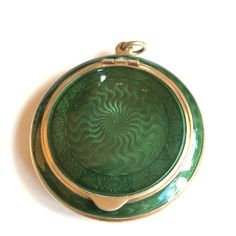 Gustav Gaudernack design for David Andersen. Silver gilt guilloché enamel powder compact. 1905-1910
