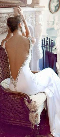 High Fashion | Style | Wedding Ideas: Opened back tasteful dress