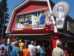 7. The All you can drink Milk Stand goes through over 25,000 gallons of milk every year.