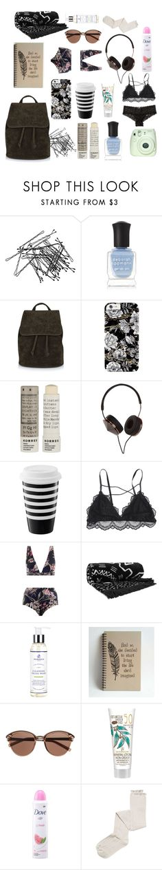 """Hannah Baker travel essentials - 13rw / 13 reasons why"" by shadyannon ❤ liked on Polyvore featuring H&M, Deborah Lippmann, Topshop, Korres, Frends, Zimmermann, The Beach People, Murdock London, Witchery and Intimately Free People"