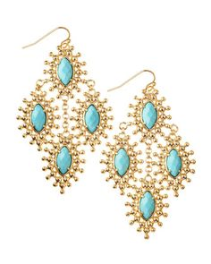 Kendra Scott Febe Turquoise Chandelier Earrings