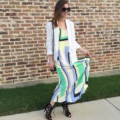Abstracted Maxi Dress #Anthropologie #MyAnthroPhoto