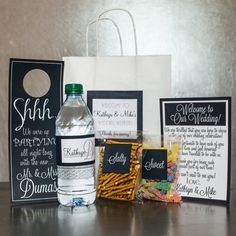 Wedding Welcome Bag    {OVERVIEW}  This listing is for a welcome bag and wedding welcome accessories! Welcome gifts are a great way to greet your
