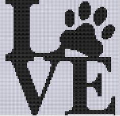Punto De Cruz Love Paw Cross Stitch Pattern - Love Paw Cross Stitch Pattern Size on 14 count roughly X Includes Cross Stitch Tips Cross Stitch Heart, Cross Stitch Animals, Modern Cross Stitch, Counted Cross Stitch Patterns, Cross Stitch Designs, Cross Stitch Embroidery, Embroidery Patterns, Hand Embroidery, Modele Pixel Art