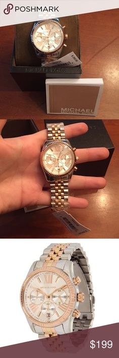 Michael Kors watch!! Brand new with box, tags, care instructions, and all plastic on links and face of watch! Beautiful 3 tone white, yellow, and rose gold colors! Stainless steel!! All links included!! Michael Kors Accessories Watches