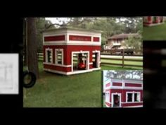 Great kids need a great place to play. This firehouse is just pure fun! Of course it has a deck with a pole! This is the classic firehouse that everyone want. Tiny House Design, All Design, Pure Fun, Play Houses, Great Places, Deck, Pure Products, Outdoor Decor, Kids