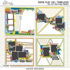 Paper Play #19 | Templates