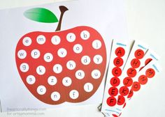 Preschoolers will love practicing their alphabet with this fun Apple Matching Printable! Match lowercase letters with uppercase letters.