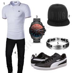 Cooles Männer-Outfit mit King Cap (m0409) #outfit #style #fashion #menswear #mensfashion #inspiration #shirt #cloth #clothing #männermode #herrenmode #shirt #mode #styling #sneaker #menstyle