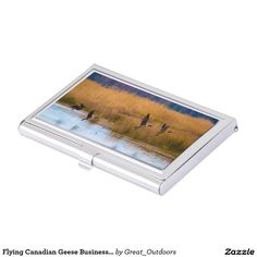 Flying Canadian Geese Business Card Holder
