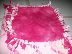 Cancer Pink Ribbons/Blender Pink! No Sew Blankets, Comfy Blankets, Pink Ribbon Crafts, Pink Ribbons, Cancer, Sewing, Dressmaking, Couture, Stitching