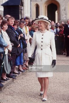The Duchess Of Kent At The Scout's St. George's Day Parade In The Great Quadrangle, Windsor Castle.