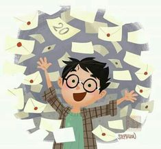 Harry getting his Hogwarts letter