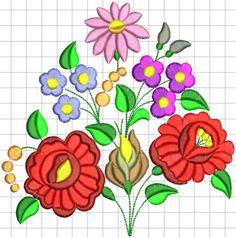 Kalocsai hímzésminta 353 Plus Chain Stitch Embroidery, Ribbon Embroidery, Embroidery Stitches, Embroidery Patterns, Stitch Head, Hungarian Embroidery, Needlework, Crafts, Hungary