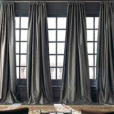 silk curtains in white for living room - X Royal Velvet Grandeur Silk Rod-Pocket/Back-Tab Curtain Panel Silk Curtains, Luxury Curtains, Grey Curtains, Velvet Curtains, Drapery Panels, Curtains With Blinds, Long Curtains, Valances, Window Panels