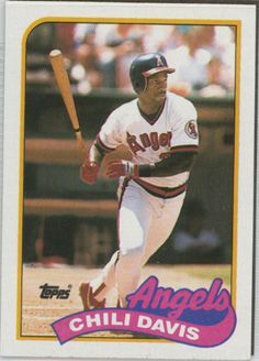 Best 2012 Topps Baseball Cards | Topps 1989 Baseball Card | Chili Davis | California Angels ...