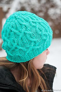 Ice Storm Hat: http://www.ravelry.com/patterns/library/ice-storm-hat