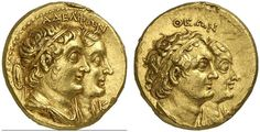 AV Tetradrachm. Greek Coin, Ptolemaic Kingdom of Egypt, Ptolemy II. Philadelphus, king 285-246 BC. 13,93g. Svoronos Pt. 618. Very rare variety of a rare issue! Good VF. Price realized 2011: 16.000 USD.