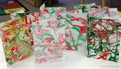 Marbled Homemade Christmas Card