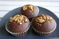 Vegane Schoko-Erdnuss-Muffins