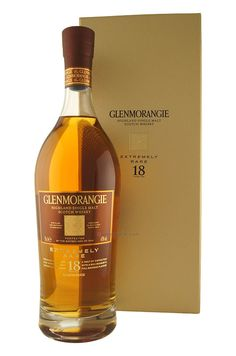 Extremely Rare 18 Years Glenmorangie – Specially aged, rare malt scotch whisky matured in oak casks. A malt of distinction with a rich bouquet & full rounded flavour. Whiskey Girl, Good Whiskey, Cigars And Whiskey, Whiskey Drinks, Scotch Whiskey, Bourbon Whiskey, Single Malt Whisky, Wine And Spirits, Alcoholic Drinks