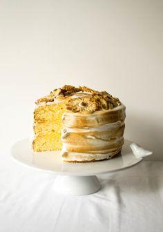 Triple Layer Lemon Meringue Cake | butter and brioche