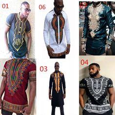 0828cd16ad6 Mens Tribal African Dashiki Shirt Succinct Print Blouse Hippie Clothing Top  TEE