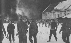historywars: British commandos watching the destruction of oil factories in the Lofoten Islands during Operation Claymore. In March British Commandos, Spooky Places, Lest We Forget, Lofoten, Factories, Destruction, Ww2, Islands, March