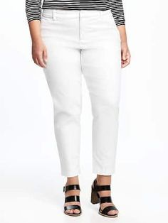 Smooth & Slim Stay-White Plus-Size Pixie Chinos