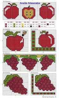 Anaide Ponto Cruz: Lindos gráficos mini de frutas em ponto cruz!!!!!!...