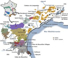 Carte vignoble languedoc roussillon