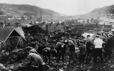 """The Telegraph on Twitter: """"More than 150,000 tonnes of coal engulfed Pantglas Junior School and 19 houses #Aberfan… """""""