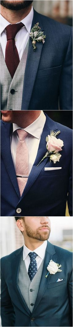 navy blue wedding groom suit ideas