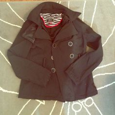 Dollhouse Black Peacoat, New Without Tags