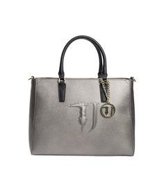 TRUSSARDI Trussardi Women's  Grey Polyurethane Tote. #trussardi #bags #hand bags #tote #