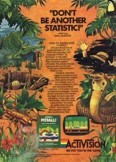 Activision Pitfall Video Game for Atari 2600 Retro Gaming Ad #ads #retrogaming #oldschool