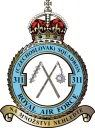 Badge of 311 Czech Bomber Squadron, of which Josef Horák and Josef Střibrny of Lidice were members of.