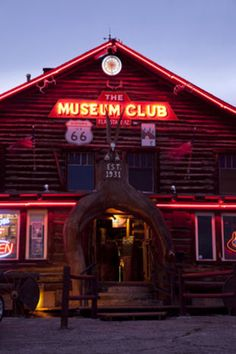 The Museum Club neon sign on Route 66 in Flagstaff.