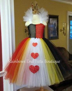 Queen of Hearts Tutu Dress size 1218m 1824m by whererainbowsend1, $55.00