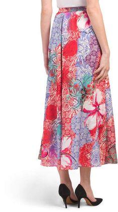 Flint And Moss Printed Circle Skirt Gray Skirt, Tj Maxx, Midi Skirt, Stylish, Printed, Skirts, Fashion Design, Shopping, Skirt