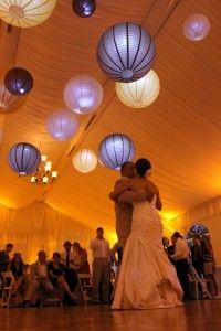 Alison and Chuck's Wedding: Father-Daughter Dance at the Marriott Lincolnshire Resort    #wedding lanterns