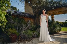 2699d0c35 The 'Pippa' gown created in a stunning English silk and Italian lace. The
