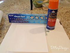DIY by Design: Freezer Paper Fabric Transfer Tutorial