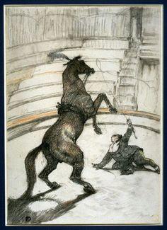 Henri de Toulouse-Lautrec (French, 1864–1901). Au cirque: Cheval pointant (At…