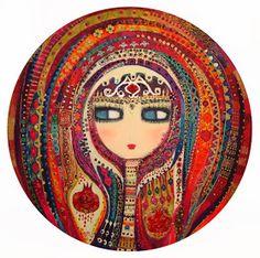 Scary Drawings, Turkish Art, Paintings I Love, Klimt, Whimsical Art, Types Of Art, Painting Inspiration, Female Art, Zentangle