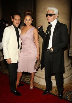 Singer Marc Anthony, Singer/Actress Jennifer Lopez and Designer Karl Lagefeld At The Annual Night of Stars HOsted by Fashion Group International October 23, 2008 in New York City
